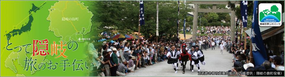 とって隠岐の旅のお手伝い 若酢命神社御霊会風流(写真提供:隠岐の島町役場)