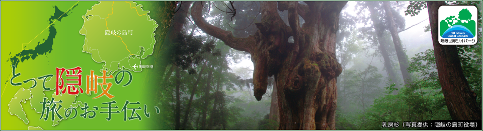 とって隠岐の旅のお手伝い 乳房杉(写真提供:隠岐の島町役場)